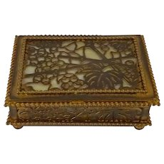 Tiffany Studios Gilt-Bronze Trinket Box: Grapevine pattern
