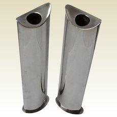"""Pair of Lino Sabattini Bud Vases: """"Giselle"""""""