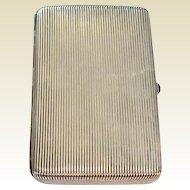 Georg Scheid, Vienna: Solid Silver Humidor/Cigar Case: circa 1900