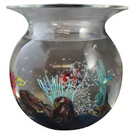 Murano Oggetti Glass Fish Bowl or Aquarium Signed Elio Raffaeli