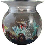 Murano Oggetti Glass Fish Bowl or Aquarium Signed Elio Raffaeli
