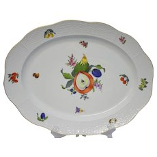 "Herend Fruits and Flowers 16 1/4"" Oval Platter BFRN"