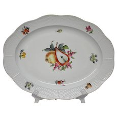 "Herend Fruits & Flowers 14 1/2"" Oval Platter BFRN"