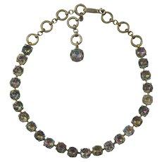 VTG Schiaparelli Necklace with Watermelon Rhinestones