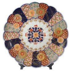 Aoki Arita Porcelain Scalloped Imari Charger