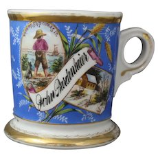 Antique Koken Barber Occupational Ship and Cabin Shaving Mug of John Bardenheier