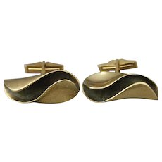 Vintage Ronald Hayes Pearson 14K Gold Modernist Cufflinks 17.48 Grams