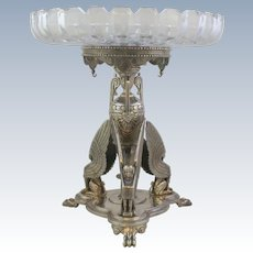 Antique Frederick Elkington Egyptian Revival #9970 Silverplate Tazza Base