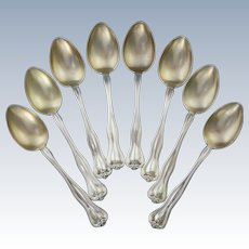 Watson Mt. Vernon Sterling Gold Wash Demitasse Spoon Set
