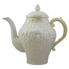 Belleek Bacchus Mask Coffee Pot With The Third Black Mark And Yellow Tint Lustre