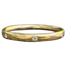 Victorian Gold and Diamond Bangle