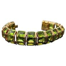 Tiffany & Co Gold Peridot Bracelet Bangle