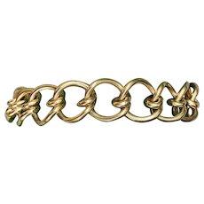 14K Yellow Gold Wide Gold Bracelet