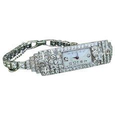 Platinum Art Deco Diamond Watch