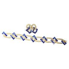 Buccellatti Blue Lapis and Earring Set