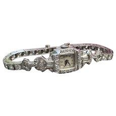 Art Deco Diamond Hamilton Watch