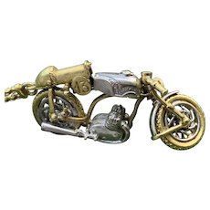 18K Yellow Gold Motorcycle Charm