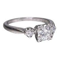 Retro Diamond Engagement Ring