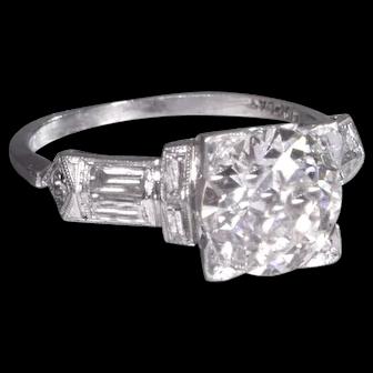 Vintage Art Deco Diamond Engagement Ring - ER 506S