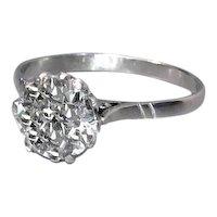 Art Deco Diamond Solitaire Engagement Ring