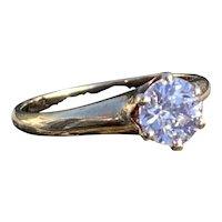 Victorian 14K Yellow Gold Old European Cut Diamond Engagement Ring