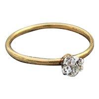 Victorian 18K Yellow Gold Old European Cut Diamond Engagement Ring