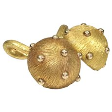 Tiffany & Co. Schlumberger 18K Yellow Gold Men's Cufflinks