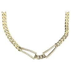 18K Yellow Gold and Diamond Choker