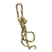 14K Yellow Gold Wide Link Chain Necklace