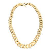 18K Yellow Gold Chunky Braided Necklace Choker
