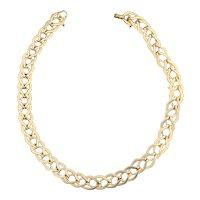 14K Yellow Gold Chunky Gold Choker Necklace