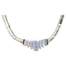 14K Yellow Gold and Diamond Choker Necklace