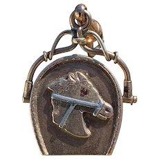 Victorian Horseshoe Equestrian Fob Pendant