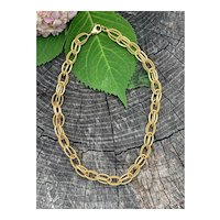 14K Yellow Gold Oval Link Layering Necklace