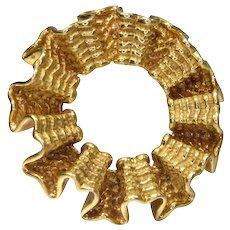 Tiffany & Co 18k Yellow Gold Abstract Circular Pin Brooch