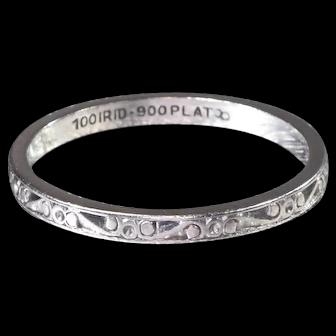 Vintage Wedding Band Art Deco Wedding Band Vintage Eternity Band Platinum Wedding Ring - R 548M