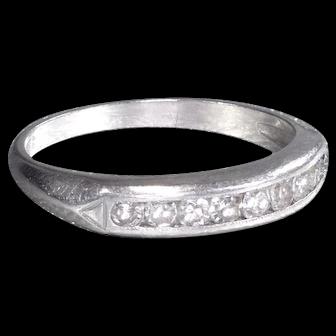 Vintage Diamond Wedding Band Vintage Wedding Band Vintage Eternity Band Platinum Wedding Ring - R 549M