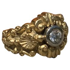 19K Yellow Gold and Diamond Versatile Ring