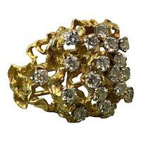 18K Yellow Gold Diamond Cluster Ring