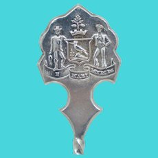 1896 Halifax Nova Scotia Sterling Silver Souvenir Spoon Vintage Antique E Mari Merces