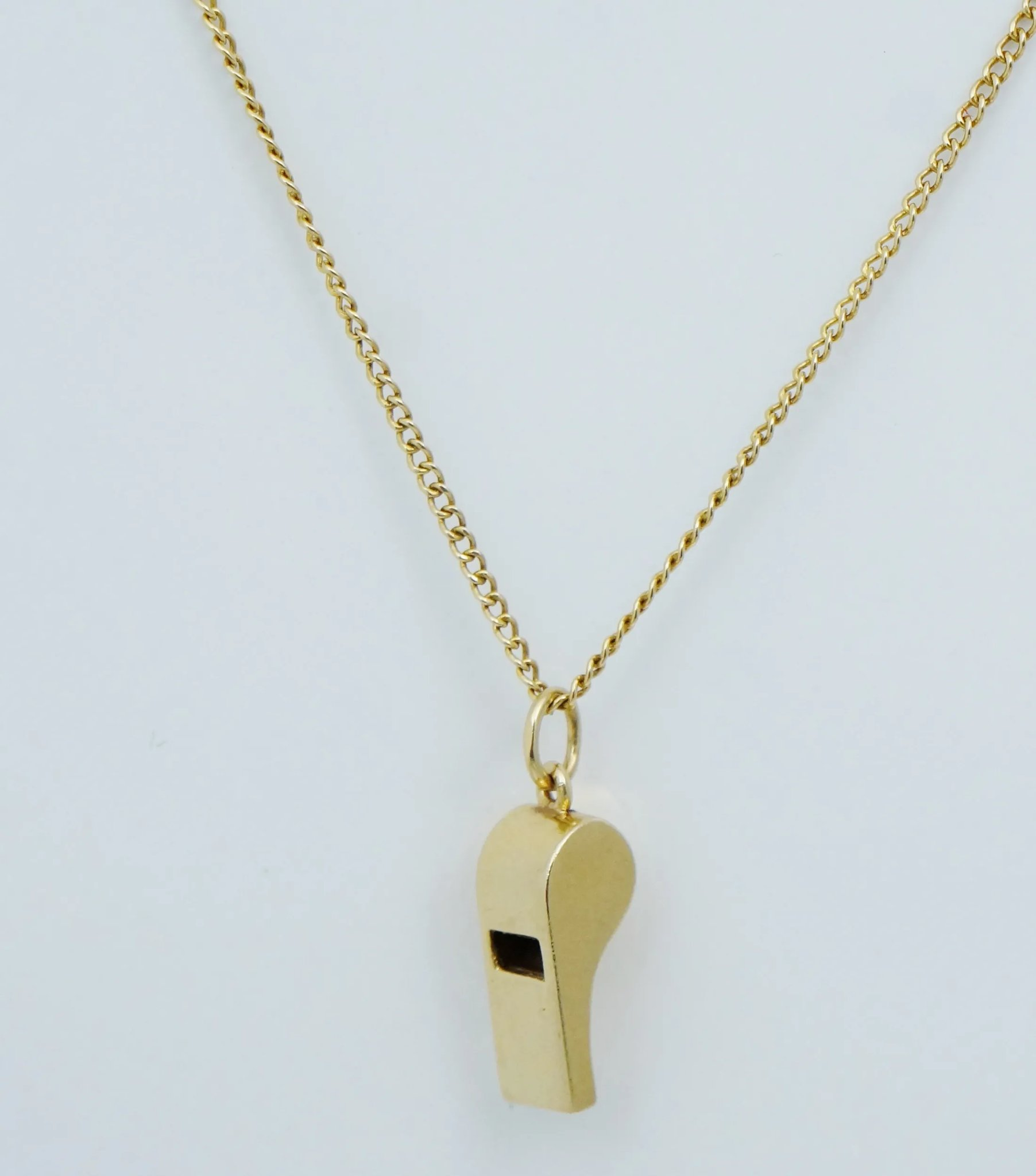 96d613e27 Tiffany & Co 14K Whistle Charm Pendant for Necklace Antique Yellow Gold  Vintage. Click to expand