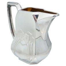 900 Silver Finland Sterling Handled Creamer Jugendstil Art Deco Vintage Antique Heavy