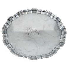 Tiffany & Co Sterling Silver Wide Dish Tray Jewelry Trinket Vintage Antique Scalloped Edge Serving