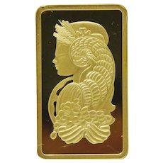 Pamp .999 5 Gram 24K Bar Ingot Pure Gold Credit Suisse Bullion gm Pure