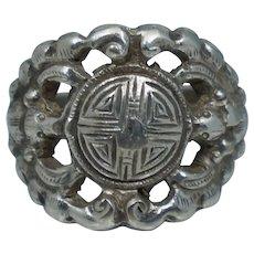Chinese Export Sterling Silver Adjustable Bat Ring Antique Vintage Sz 5.5