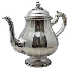 Antique French 950 Silver Art Deco Sterling Teapot Olier & Caron Tea Pot Vintage