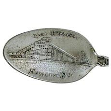 Hazelton Pa Coal Breaker Sterling Silver Souvenir Spoon Pennsylvania Shepard Vintage