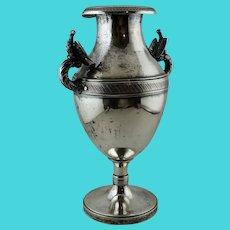 1850s Modena Italy 916 Silver Eagle Vase Antique Sterling Victorian Kingdom Reggio Bird