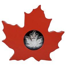 2015 Canada .9999 AG Silver 20 Dollar Maple Leaf Shape Bullion Coin Royal Canadian Mint