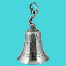 Redlich & Co Sterling Art Nouveau Dolphin Dinner Service Bell Silver Antique Vintage